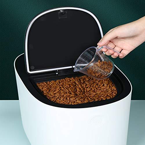 Drücken Futterbox Tierfutterbehälter Hundefutter behälter mit Messbecher Eingebaute Feuchtigkeitsbeständige Box Stark und Robust 8L
