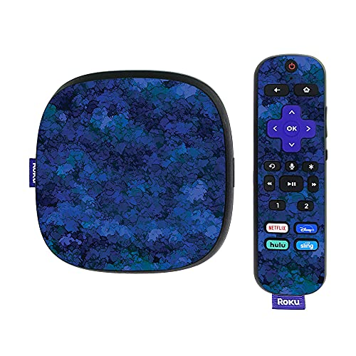 MightySkins Skin Compatible With Roku Ultra HDR 4K Streaming Media Player (2020) - Blue Ice | Protective, Durable, and Unique Vinyl Decal wrap cover | Easy To Apply and Change Styles | Made in the USA