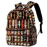 Z&Q Guarderia Mochila Escolar Lata de cerveza de metal Linda Mochila para niños, Mini Gracioso Bolsa para la Escuela 29.4x20x40cm