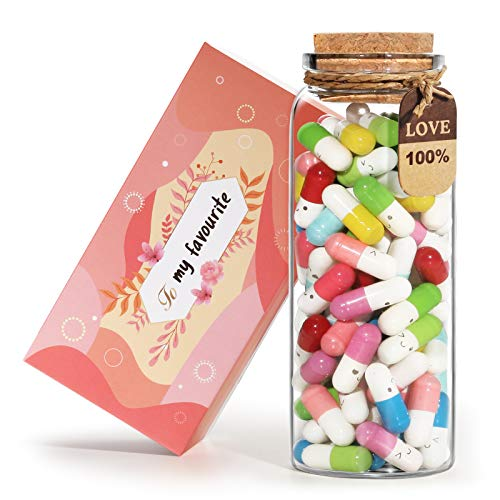 Orimit Capsule Letters Message in a Bottle Glass with Gift Box - Gifts for...