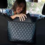 Upgrade4cars Soporte para Bolso de Coche con Posavasos | Organizador de Bolsos | Porta Bolsa Multifuncional para el Asiento del Coche | Accesorios Coche Mujer Interior
