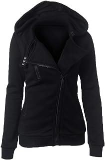 Womens Winter Lapel Jacket Motorcycle Jacket Ladies Biker Outwear Fashionable Streetwear Cool Hip Hop Style Zip Hooded Jac...