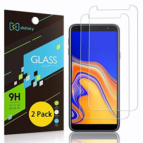 Didisky Pellicola Protettiva in Vetro Temperato per Samsung Galaxy J4 Plus/ J6 Plus, [2 Pezzi] Protezione Schermo [Tocco Morbido ] Facile da Pulire, Trasparente, Facile da installare