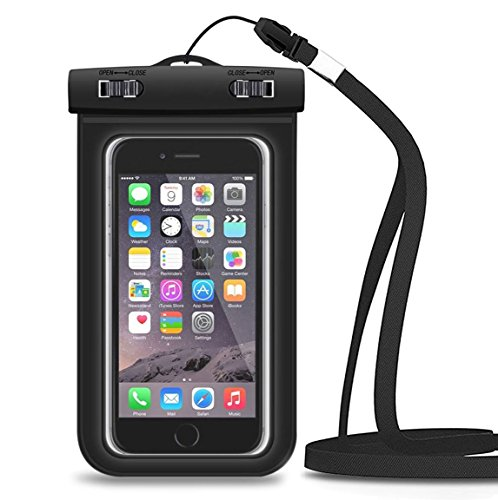 Price comparison product image Waterproof Case,  Splaks Universal Durable Underwater Bag with Armband and 3.5mm Earphone Jack for Smartphones,  3-in-1 Touch Responsive Transparent Windows,  IPX8 Certified to 100 Feet