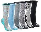 Dickies Women's Dritech Advanced Moisture Wicking Crew Sock (6/12, Tribal (6 Pairs), Shoe Size: 6-9
