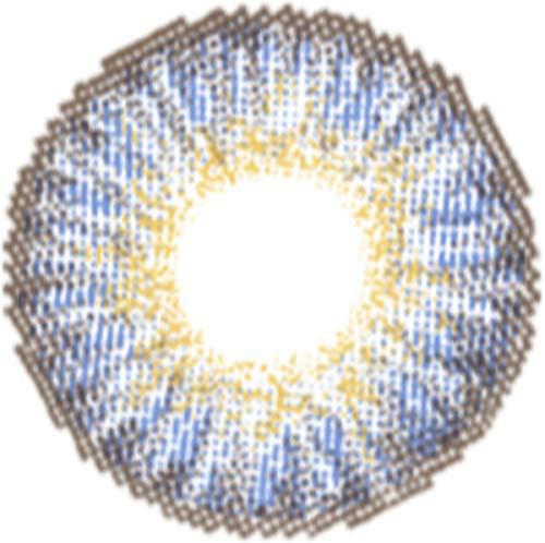 Matlens – EOS Farbige Kontaktlinsen ohne Stärke sapphire saphirblau Big eyes G-307 2 Linsen 1 Kontaktlinsenbehälter 1 Pflegemittel 50ml FBA