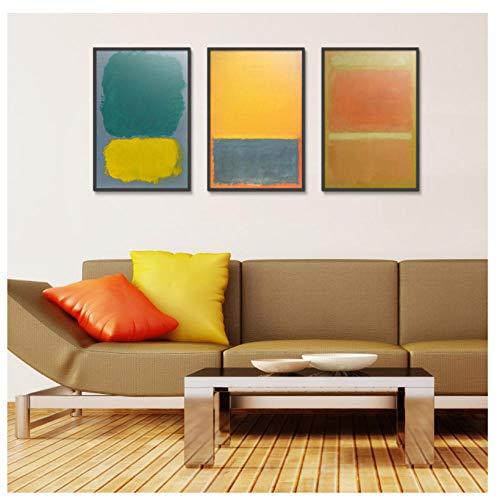 WENJING Abstracte stijl druk schildersdoek waterdicht airbrush vierkante poster Art-40X60Cmx3 stuks geen lijst