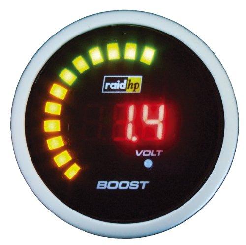 Raid HP 660532 Zusatzinstrument Ladedruckanzeige Serie Night Flight Digital Red