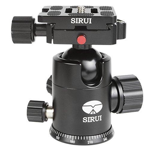 Sirui G-20X Pro Version - Cabezal de Aluminio para trípode (36mm, 360g, Carga máx. de 20kg, Incluye Disco Intercambiable TY-50X de Goma), Color Negro