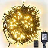 Yztree String Light Fairy Lights Waterproof with 8 Lighting Modes 110V for Bedroom Garden Party Patio Bistro Holiday Halloween Decoration Outdoor(Warm White)