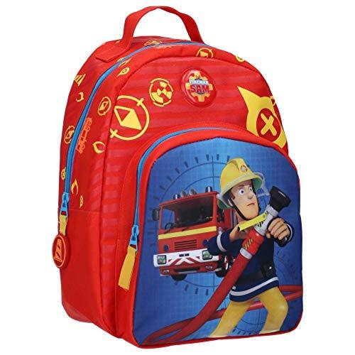Unbekannt Feuerwehrmann Sam Kindergarten Rucksack rot ca. 31 cm Kinder Tasche