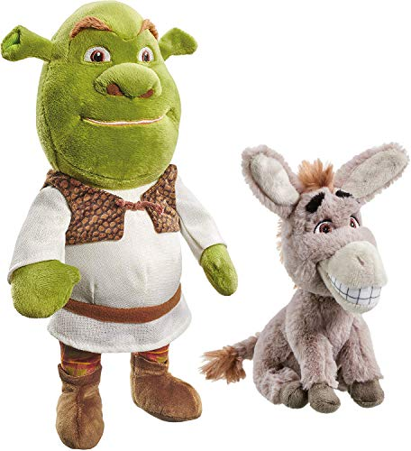 Rainbow Designs Set di Peluche DreamWorks Shrek 30 cm e Asino 20 cm (2 Pezzi)