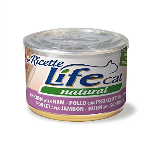Life Cat 102391 doos The Recipes met kip, ham en bonen, groen, 150 g