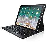 CSL - iPad Pro 12,9 Zoll Tastatur inkl. Kunstledercase - Schutzhülle Tasche Cover Case - Lightweight Design - Multimedia-Funktionstasten - QWERTZ-Layout Deutsch - Magnetische Befestigung