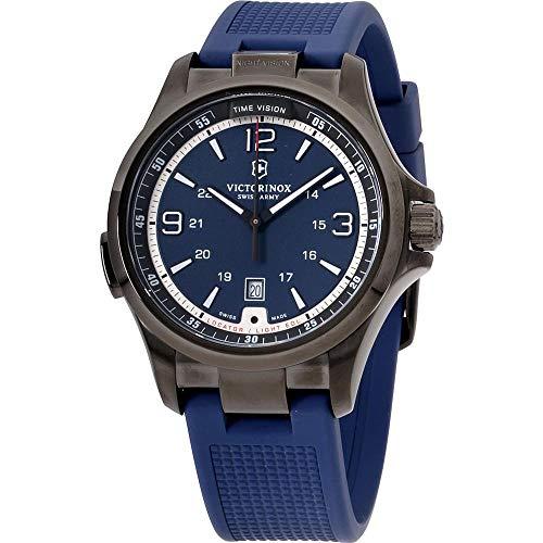 Victorinox Men's 241707 Night Vision Analog Display Swiss Quartz Blue Watch