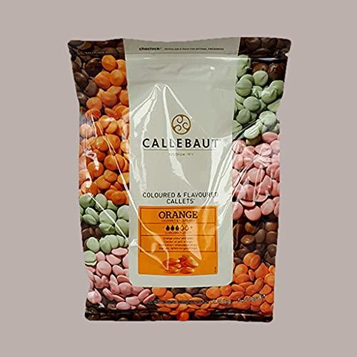 2,5 Kg Cioccolato di Copertura Orange Gusto Arancia CALLEBAUT in Callets Gelato Pasticceria