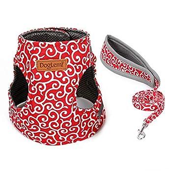 RC GearPro Sangle de poitrine pour chat chat Style japonais Vêtements harnais réglable doux rembourré pour chatons