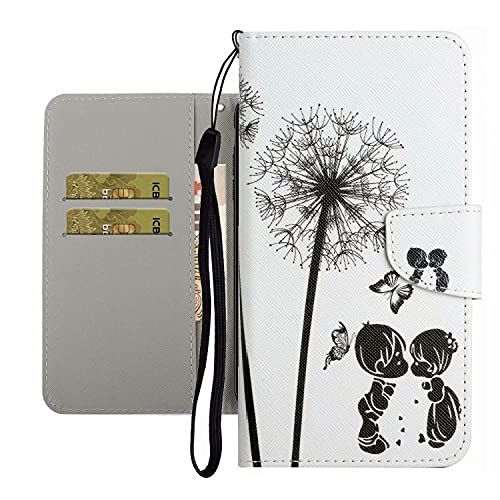 TYWZ Funda de piel sintética para Samsung Galaxy A03S, para niñas, mujeres, diseño colorido, con ranura para tarjetas, cierre magnético