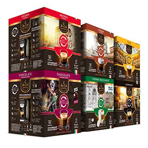 SanSiro® Kaffee Probierset 2 | für alle Dolce Gusto® Systeme | 84 Kaffeekapseln | Kaffee in Italien geröstet | Geschaffen für alle Kaffeegenießer