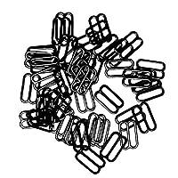 shama 100メタルブラストラップアジャスタースライダー/フック/リングランジェリーソーイングクラフトシルバー/ BLK - ブラック, 10mm-8字型