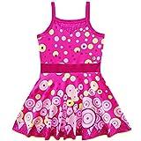 Lito Angels - Mia And Me Costume da Bagno Intero per Bambina, con Gonna, Taglia 3-4 Anni, Rosa Caldo