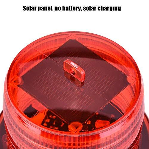 Raguso LED-Warnleuchte Solarblinkleuchte Leuchtfeuer-Warnleuchte 2V Sicherheitshinweisleuchten für Gabelstapler(red)