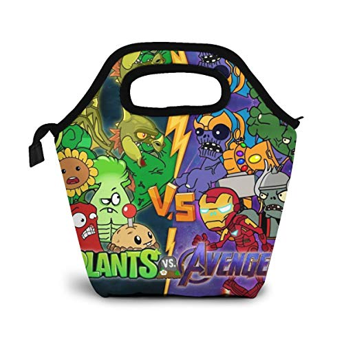 Plants Vs Zombies 2 Portable Insulated Lunch Tote Bag Shopping Bag Reusable Lunch Box For Men, Women And Kids Gift
