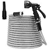 TUNHUI 50FT Heavy Duty Flexible Metal Garden Hose Stainless Steel...