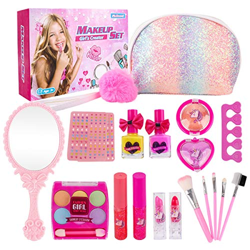 Girl Makeup Kit - Kids Real Washable Play Makeup Toy for Toddler Gifts Age 2 3 4...