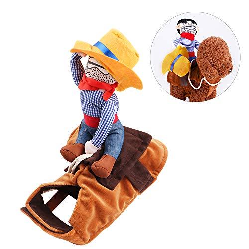 RCRuning-EU Pet Costume Dog Costume Vestiti Pet Outfit Vestito Stile Cowboy Rider, Adatti per Cani di Peso Inferiore a 12g- Misura M