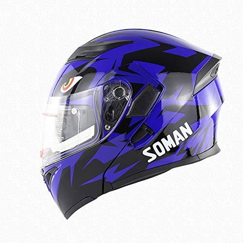 SLSMD Full Face Motorhelm voor volwassenen, uniseks, open gezicht, motorcrosshelm, beste kwaliteit, anti-condens, ademend