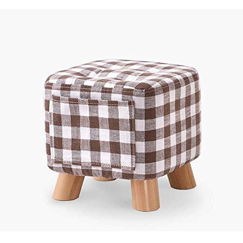 Monthyue Ottomaanse kruk, opslag stoel vierkant multifunctionele opslag kruk opslag schoenen veranderen bank stof opbergdoos