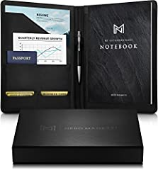 📙 A BUSINESS PORTFOLIO THAT IS WORTH HAVING: 4 business essentials, 1 low price. Amazing value! Why settle for just a standard portfolio? Your document leather organizer includes a FREE adhesive phone wallet, business card wallet & 8.5 x 11in 50-page...