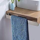 Soporte de papel higiénico autoadhesivo de acero sin perforaciones para baño,...