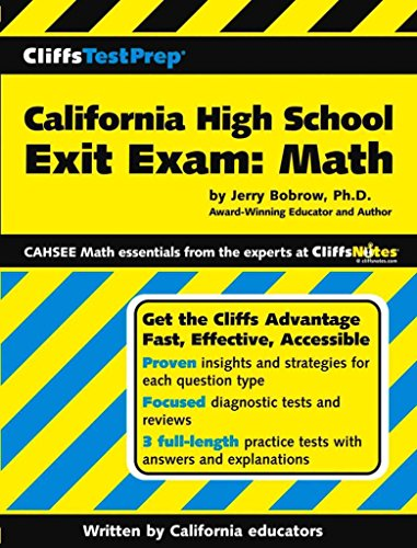 [(California High School Exit Exam : Mathematics)] [By (author) Jerry Bobrow] published on (December, 2004)