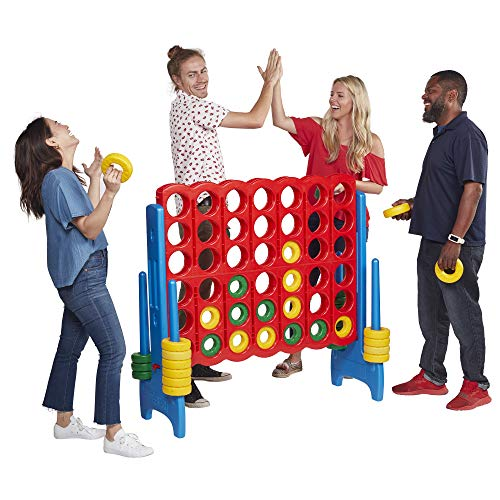 ECR4Kids Jumbo 4-to-Score Giant Game Set, Backyard Games for Kids, Jumbo Connect-All-4...