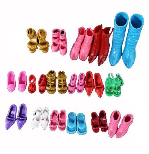 Gosear 12 Paia Scarpe Accessori per Bambole Barbie Vari Colori