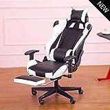 Gaming Chair, Silla sillas con Respaldo Alto computadora de Oficina Silla reposapiés E-Sports Videojuegos Sillón