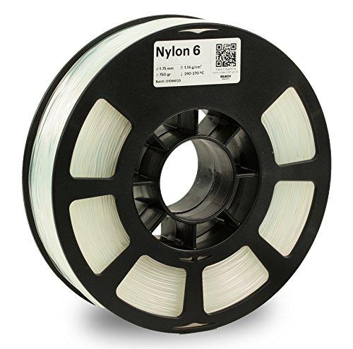 KODAK 3D printer filament NYLON 6 NATURAL color, +/- 0.03 mm, 750g (1.6lbs) Spool, 1.75 mm. Lowest moisture premium filament in Vacuum Sealed Aluminum Ziploc bag. Fit Most FDM Printers