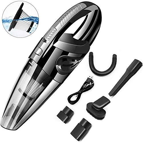 WCJ Auto-vacuum 120 W High Power USB oplaadbare draagbare mini-auto vacuüm met sterke cycloonzuiging, voor thuisgebruik, op reis en voor het reinigen van huisdieren