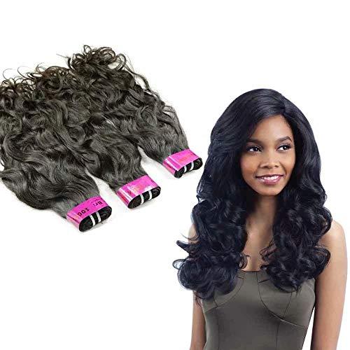 Queengirl 100% Bundles de cheveux humains vierges Vague naturelle Extension de cheveux péruvienne 10A Vague d'eau Ondulé Tissage 3pcs 16 18 20inch