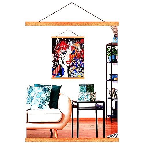 Cadre Photo Magnétique en Bois, Porte-Affiches 42 cm, Cadre Poster A2 A3 pour Accrocher des Affiches, Photos, Peintures d'art, Cadre Élégant Bricolage Décoration Murale de la Maison