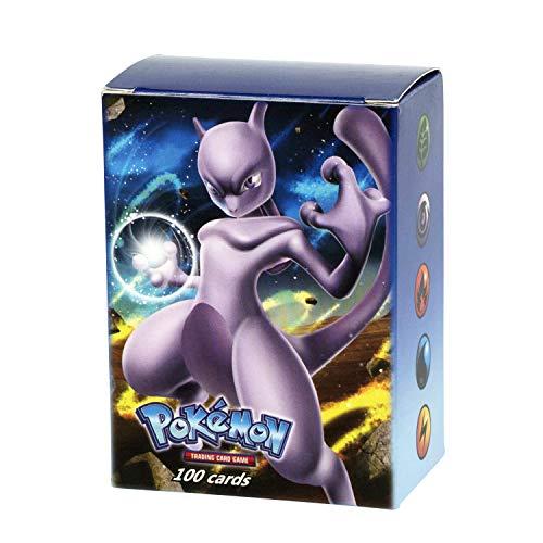 Mega Ex Cards, 100 Carte dei Pokemon, Ultra Brillante ,composte da 80 Ex Card e 20 Mega Ex Card [ Lingua Inglese ]