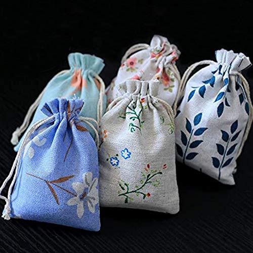 DAHI Jutesäckchen 25 Stück - Natur Säckchen Geschenksäckchen, Jute Sack, Jute Beutel (5 Type saeckchen-B)