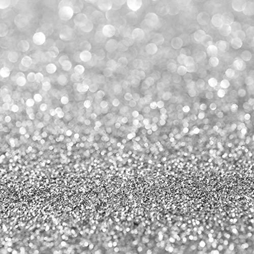 Nivius 150x220cm Zilver Bokeh Achtergrond Glitter Bruiloft Photo Booth Gordijnen Studio Achtergrond Sparkly Portret Fotografie Studio Props D-7837