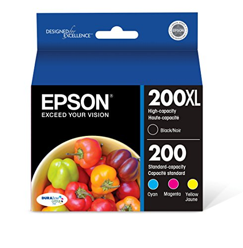 EPSON T200 DURABrite Ultra Ink High Capacity Black & Standard Color Cartridge Combo Pack (T200XL-BCS) for select Epson Expression and WorkForce Printers