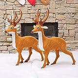 HY Décoration de Noël/Décorations de Noël -Voiture de traineau en Bois père Noël - Galerie marchande Décoration de fenêtre pour Cadeaux Haut de Gamme