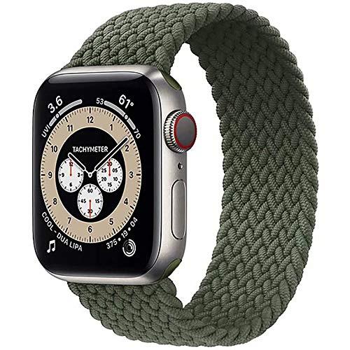 Fancyli Solo Loop Correa trenzada compatible con Apple Watch 6/5/4/3/2/1/SE para 38/40 mm y 42/44 mm