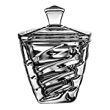 Cryst aljulia–bombonera (cristal, vidrio, 14cm, 10,5 x 10,5 x 14 cm