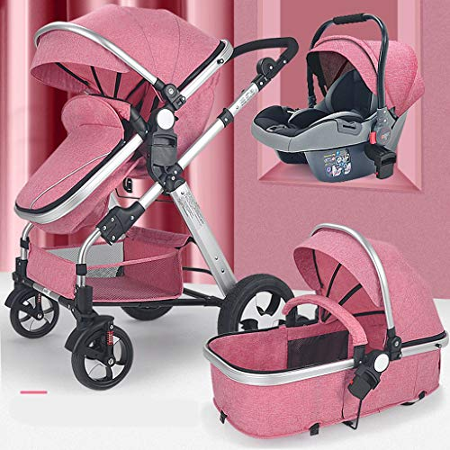 New Baby Carriage 3-in-1 Travel System-High Capacity Landscape Luxury Pram Stroller for Newborn and ...